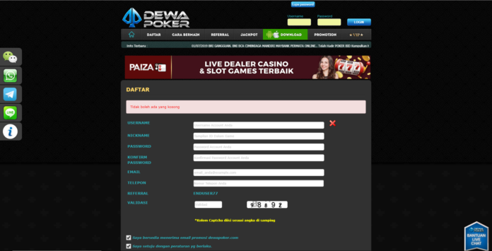 play online poker in Indonesia